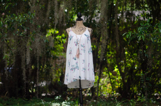 Fair Haven dress displayed outdoors
